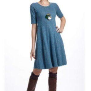 Anthropologie Ganni Threaded Trails Cotton Dress M